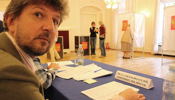 Голосование на избирательном участке в Праге