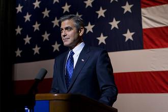 Джордж Клуни в кадре из фильма «Мартовские иды», 2011 год