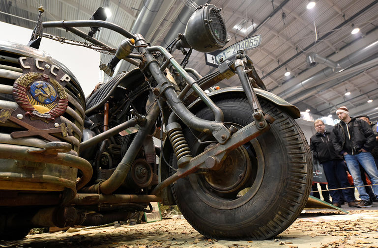 мотоцикл с танковым двигателем фото вам