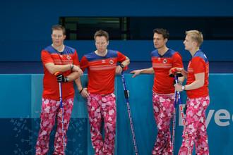Норвежские керлингисты на Олимпийских играх в Пхенчхане