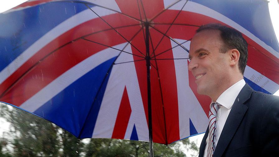 Глава МИД Великобритании Доминик Рааб во время визита в Австралию, февраль 2020 года