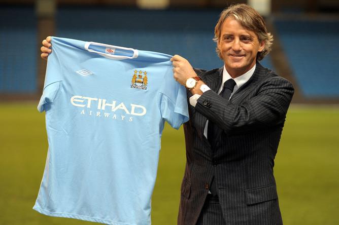 Презентация итальянца в качестве нового главного тренера «Сити» (2009-й год)