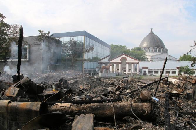 Павильон «Ветеринария» после пожара