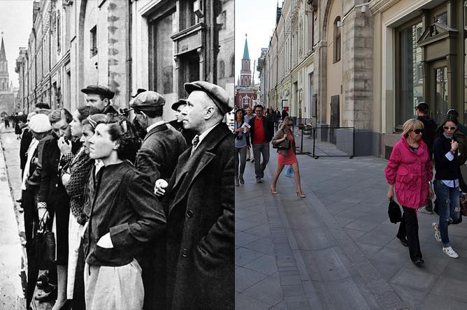 Жители столицы 22 июня 1941 года во время объявления по радио правительственного сообщения о нападении фашистской Германии