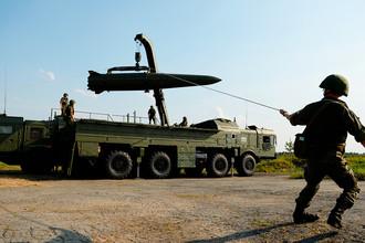 «Искандер-М» во время показательных выступлений в рамках III Международного военно-технического форума «Армия-2017» на Свердловском полигоне, 2017 год