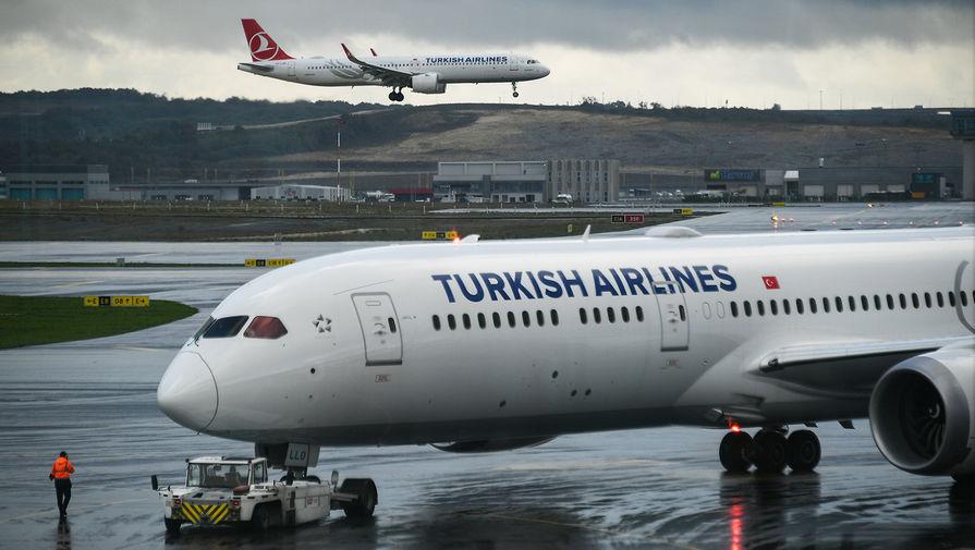 Самолеты авиакомпании Turkish Airlines в Международном аэропорту Стамбула