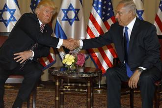 Дональд Трамп во время встречи с премьер-министром Израиля Биньямином Нетаньяху, 22 мая 2017 года