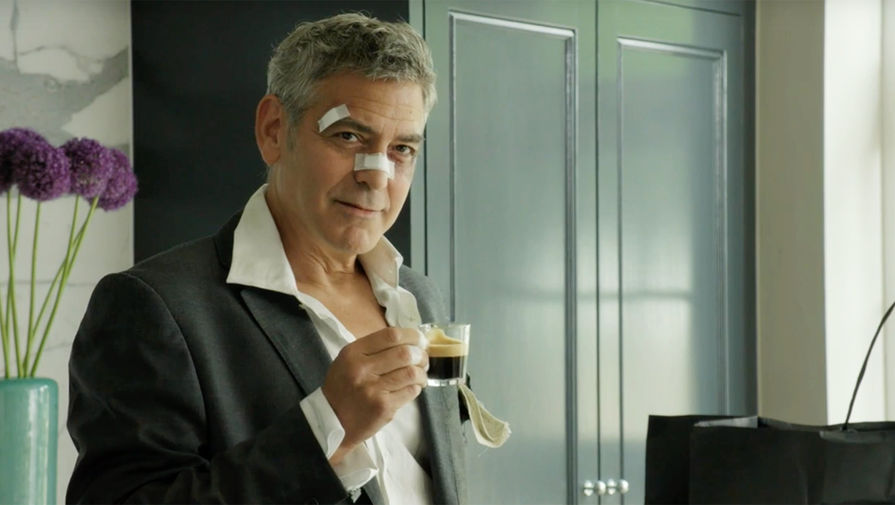 Джордж Клуни в рекламе кофе Nespresso
