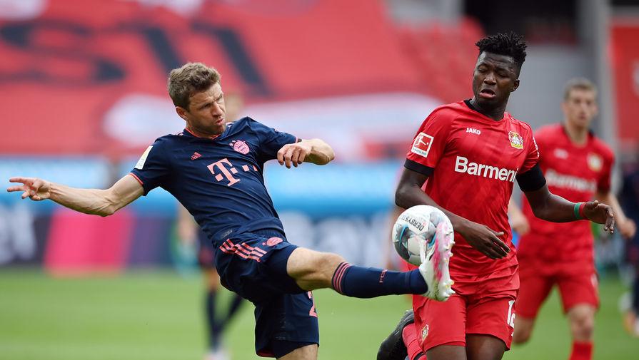 Эпизод матча «Байер»- «Бавария»