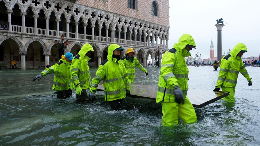 Апокалиптическое наводнение: Венеция затоплена