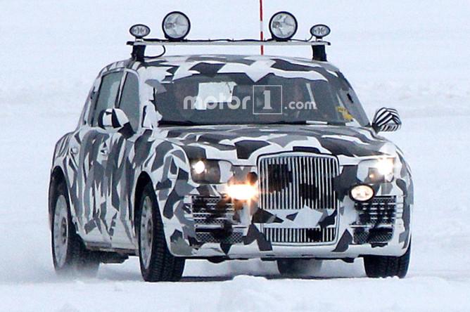 Будущий автомобиль из проекта «Кортеж» во время тестов в Швеции