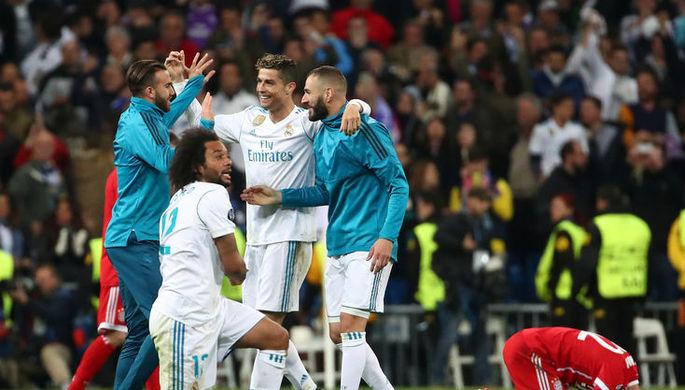 «Реал Мадрид» празднует выход в финал Лиги чемпионов