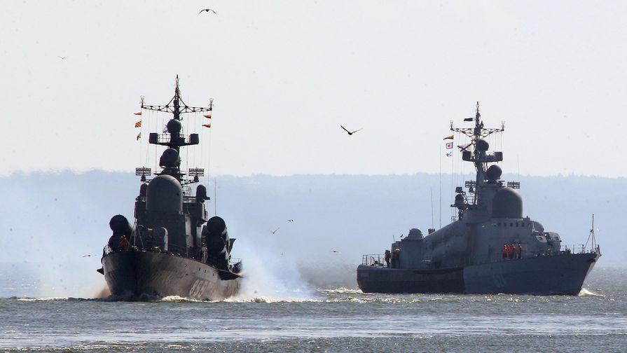 Британский корабль сопроводил российский корвет в Ла-Манше