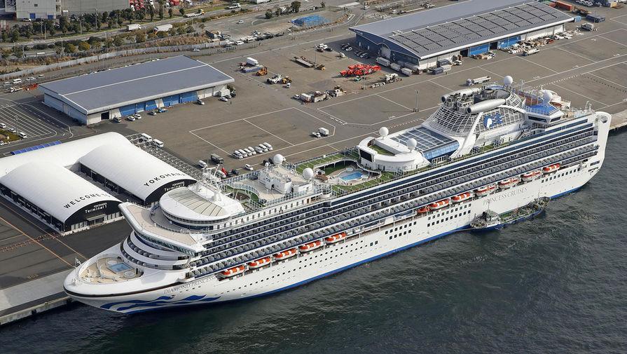 Ситуация на круизном лайнере Diamond Princess, находящемся на карантине около японского города Иокогама, 7 февраля 2020 года