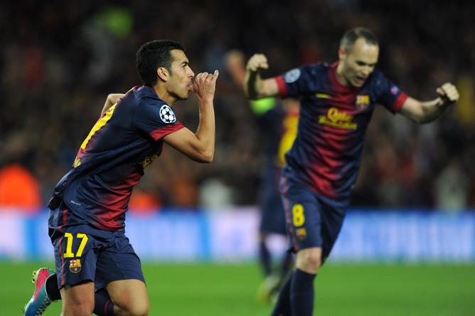 Точный удар Педро помог «Барселоне» выйти в 1/2 финала Лиги чемпионов