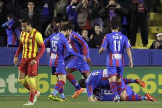 Футболистам «Леванте» удалось справиться с атакующей мощью «Барселоны»