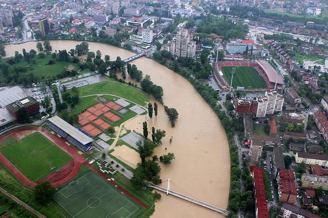 Затопленный город Зеница