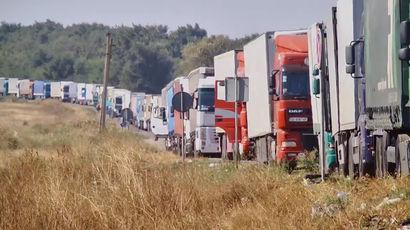 Картинки по запросу транспортная блокада крымскими татарами дороги в Крым