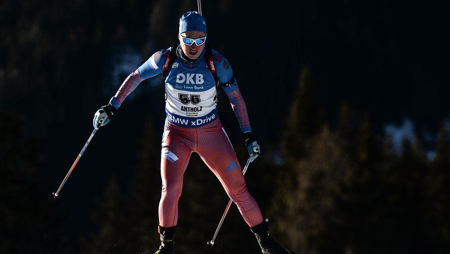 Ольга Подчуфарова (Россия) на шестом этапе Кубка мира по биатлону сезона-2016/17
