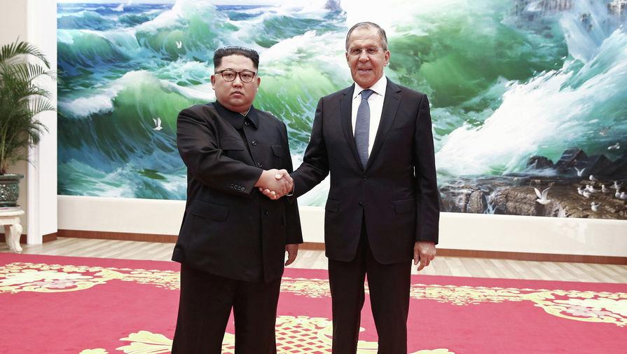 Глава МИД РФ Сергей Лавров встретился с лидером КНДР Ким Чен Ыном