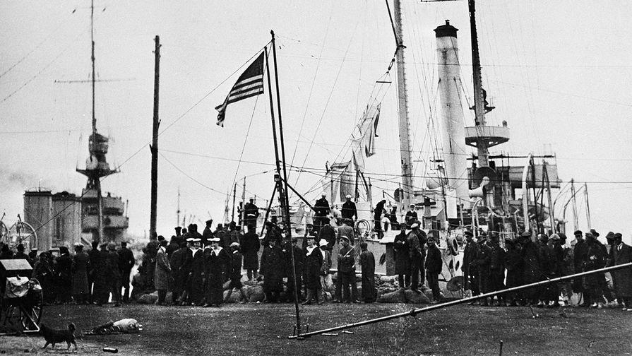Военные суда американских интервентов во Владивостоке, 1918 год