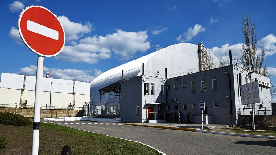 Защитная оболочка в форме арки «Укрытие-2», возведенное над разрушенным в результате аварии 4-м энергоблоком Чернобыльской АЭС, 2018 год