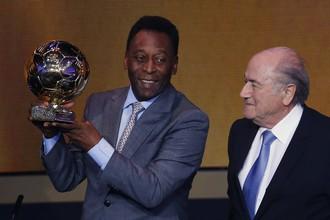 Пеле и президент ФИФА Йозеф Блаттер
