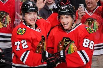 Этот сезон в НХЛ проходит под знаком Артемия Панарина (слева) и Патрика Кейна