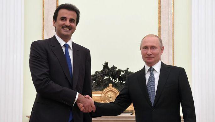 Путин обсудил с эмиром Катара инвестиции в РФ
