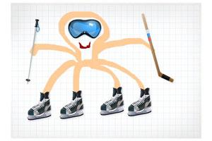 Осьминог Пауль-хоккеист