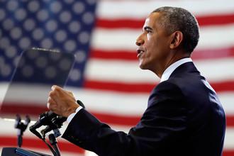 Американский президент Барак Обама во время мероприятия на базе ВВС США во Флориде, 6 декабря 2016 года