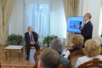 Путин встречается с активистами «Общероссийского народного фронта»