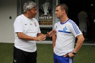 Наставники «Шахтера» и «Динамо» — Мирча Луческу (слева) и Сергей Ребров