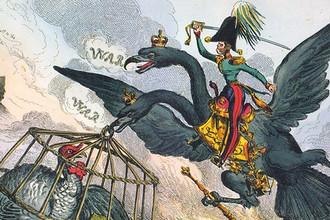 Хит Уильям. Аллегория Русско-турецкой войны 1828–1829 годов. По-английски слова «Турция» и «индюк» пишутся одинаково