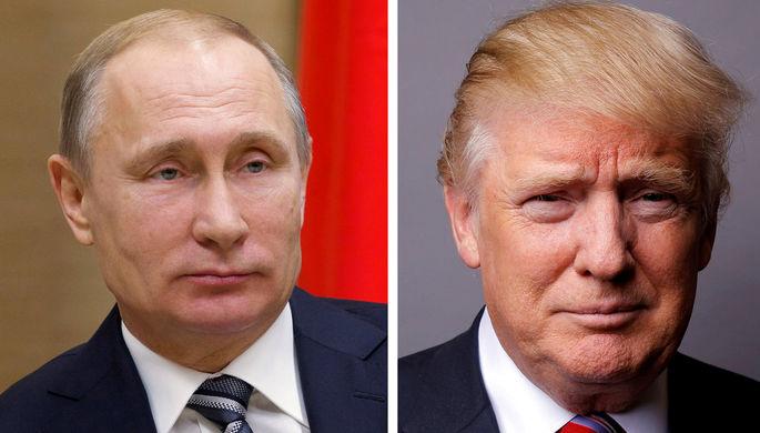 Президент России Владимир Путин и президент США Дональд Трамп