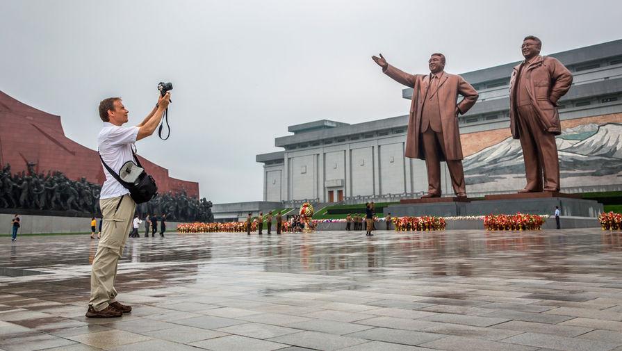 Турист в Пхеньяне, Северная Корея