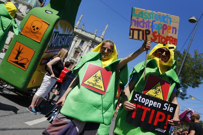 Демонстрация против саммита G7 в Мюнхене
