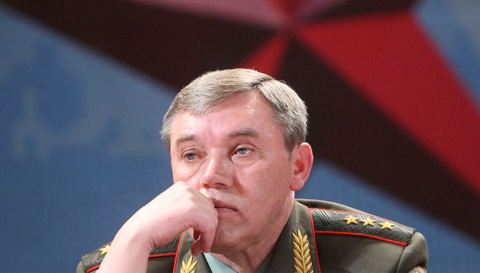 Начальник Генштаба ВС РФ Валерий Герасимов на конференции в Москве, февраль 2013 года