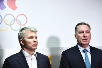 Министр спорта Павел Колобков и вице-президент ОКР Станислав Поздняков