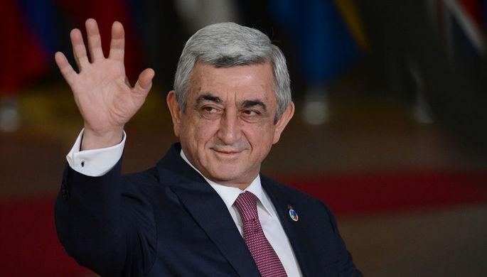 Президент Армении Серж Саргсян перед началом 5-го Саммита Восточного партнерства в Брюсселе, 24...