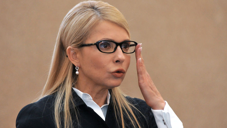 Лидер всеукраинского объединения «Батькивщина» Юлия Тимошенко во время пресс-конференции во Львове, 2016 год