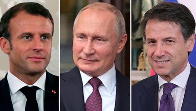 Горячие точки: Путин созвонился с Макроном и Конте