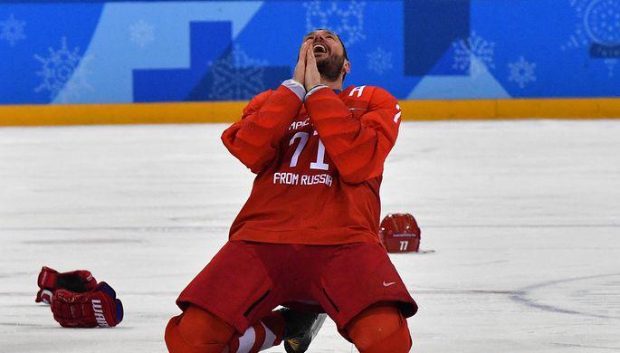 Нападающий сборной России по хоккею Илья Ковальчук