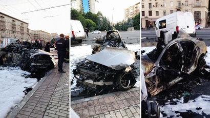 Появилось видео с места ДТП на Кутузовском проспекте