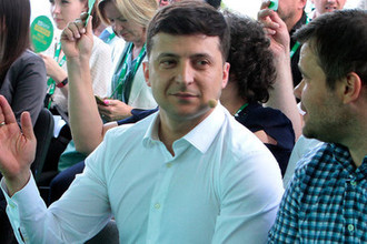 Президент Украины Владимир Зеленский во время съезда партии «Слуга народа», 9 июня 2019 года