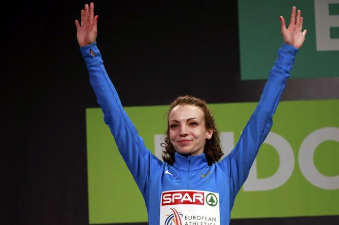 Обладательница серебра в тройном прыжке Ирина Гуменюк из России
