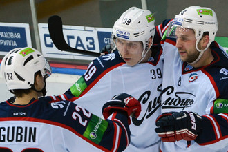Форвард «Сибири» Олег Губин принес победу своей команде в матче с магнитогорским «Металлургом»