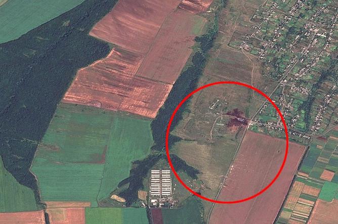 Снимки местности, где потерпел крушение самолет Boeing 777