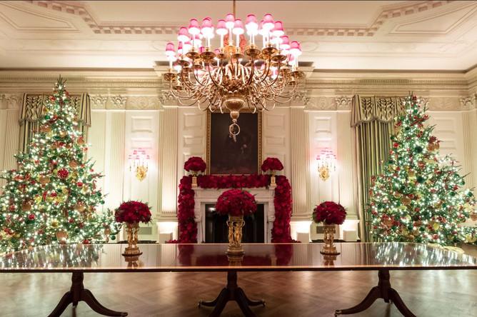 Украшения к Рождеству в Белом доме, 2 декабря 2019 года
