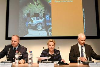 Во время пресс-конференции министра обороны Нидерландов Анк Бейлевелд, 4 октября 2018 года